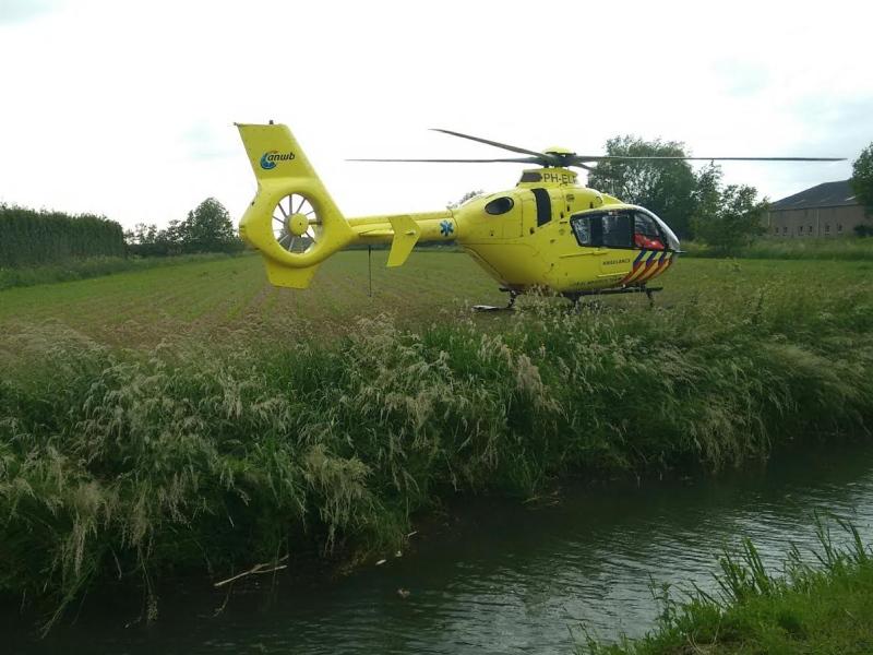 Traumahelikopter naar Hoedekenskerke