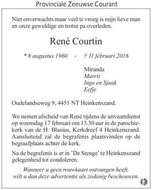 Overleden René Courtin