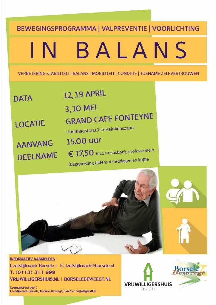 IN BALANS, bewegings- en voorlichtingsprogramma valpreventie