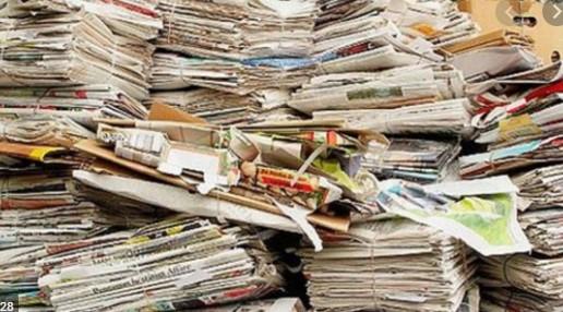 Oud papier wordt niet meer opgehaald